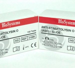 ANTI- STREPTOLYSIN O (ASO) – SLIDE  1x3 ml