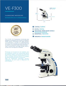 American LED Fluorescence Microscope Velab VE_F300